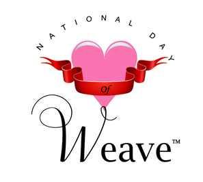 national weave day short logo
