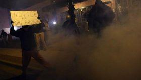 Ferguson Police Tear Gas