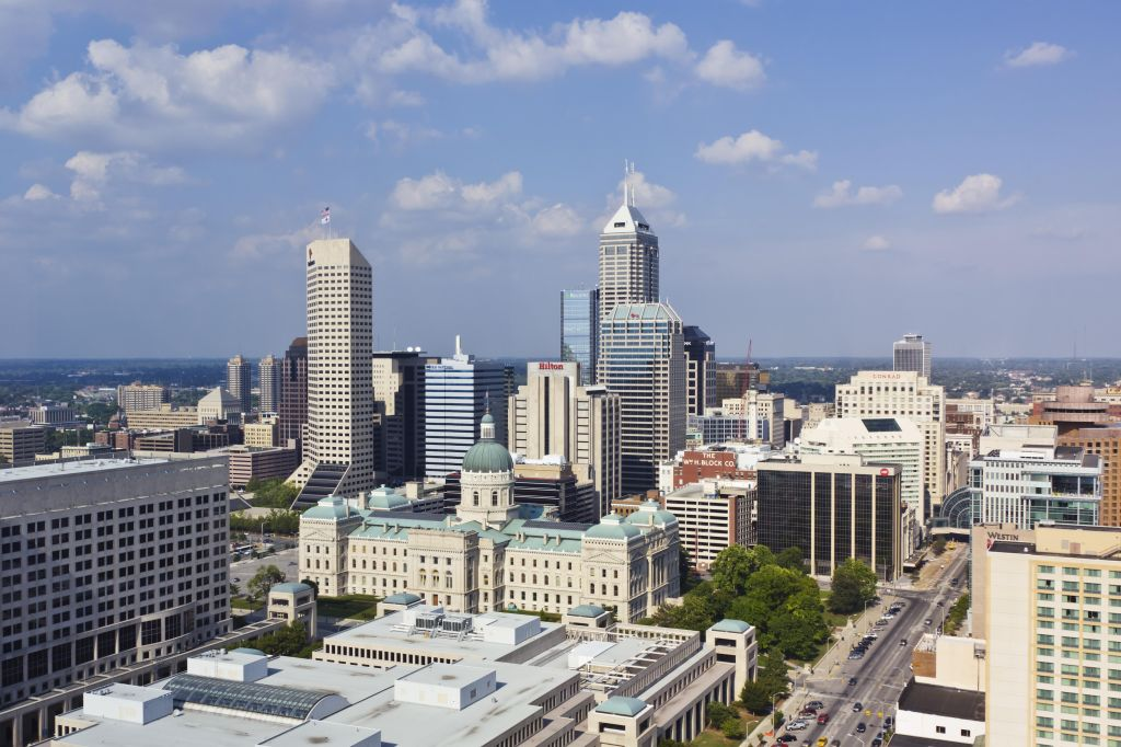 Indianapolis City Skyline