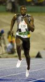 Jamaican sprinter Usain Bolt runs during