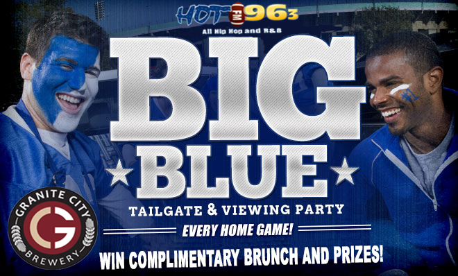 Big Blue Tailgate & Viewing Party Flyer