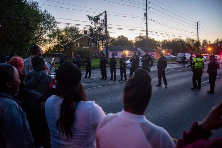 Protesters gather for Sean Reed