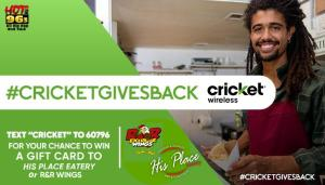 Cricket Gives Back Promotion