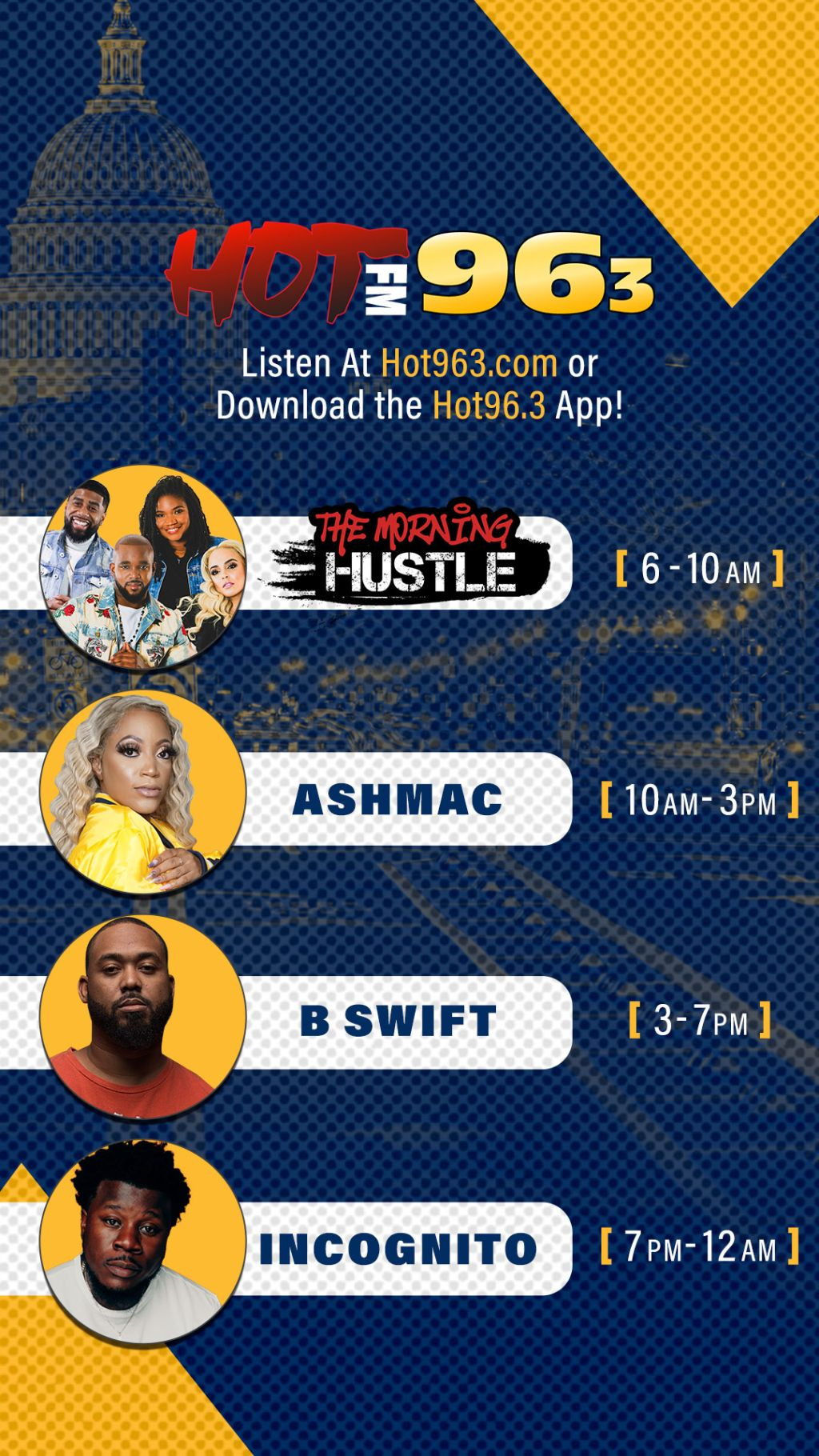 Hot 96.3 Promo Graphics